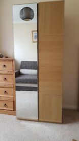 ALSTONS double wardrobe with a mirror
