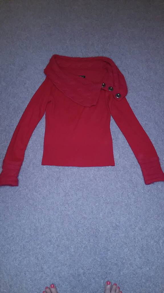 Red knitted Jane Norman jumper