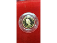 Gold Proof 1980 Half Sovereign Coin Boxed
