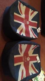 Union Jack Pouffes