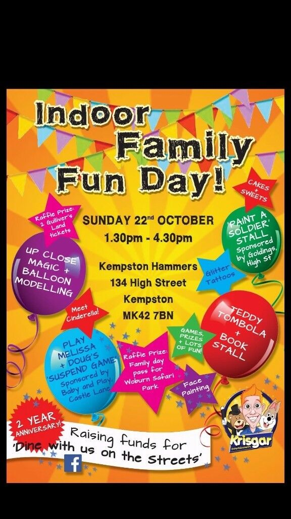 family funday with cinderella & local magician krisgar, in aid of 'dine with us on the streets'