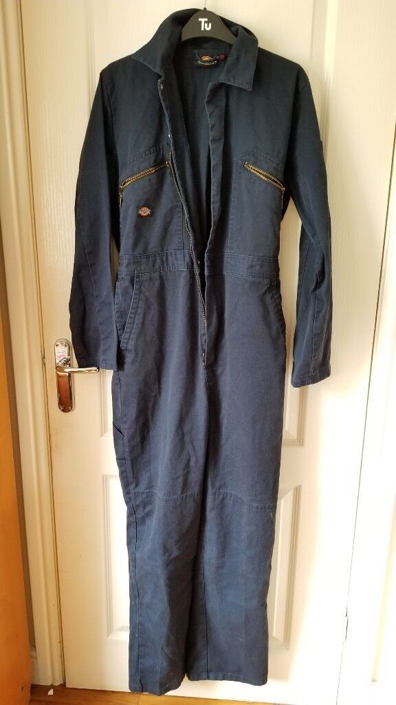 Boiler-suit coverall, navy blue, good condition, XL