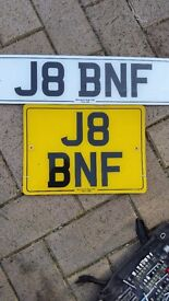 Private number plate J8 BNF HELD ON CERTIFICATE. Reg transfers advertising aswell but a bargain