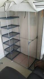 Wardrobe with canvas cover