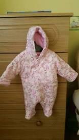 Newborn snowsuit.