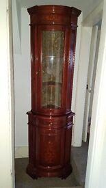 inlaid corner cabinet
