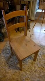 Solid Oak Chair (Dining/Hallway)