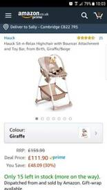 Hauck fantastic highchair - from birth