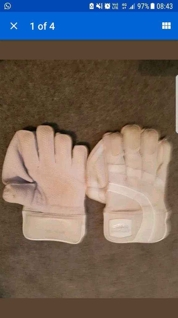 Newberry Mens Wicket Keeper Gloves All White