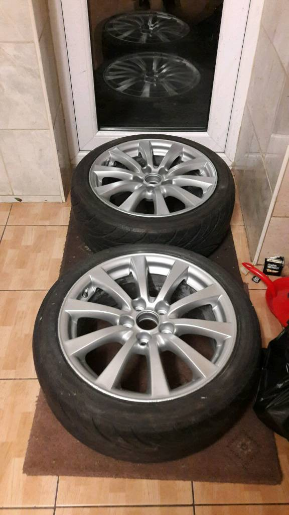 """Lexus is220d is250 17"""" alloy wheels x 4 full set freshly painted is 220d is 250 can post px"""