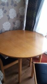 Sturdy Dinning Table And 4 Chairs
