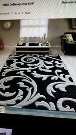 EXTRA LARGE RUG (CHARCOAL /GREY) DUNELM MILL