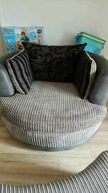 sofa and cuddle chair n footstool