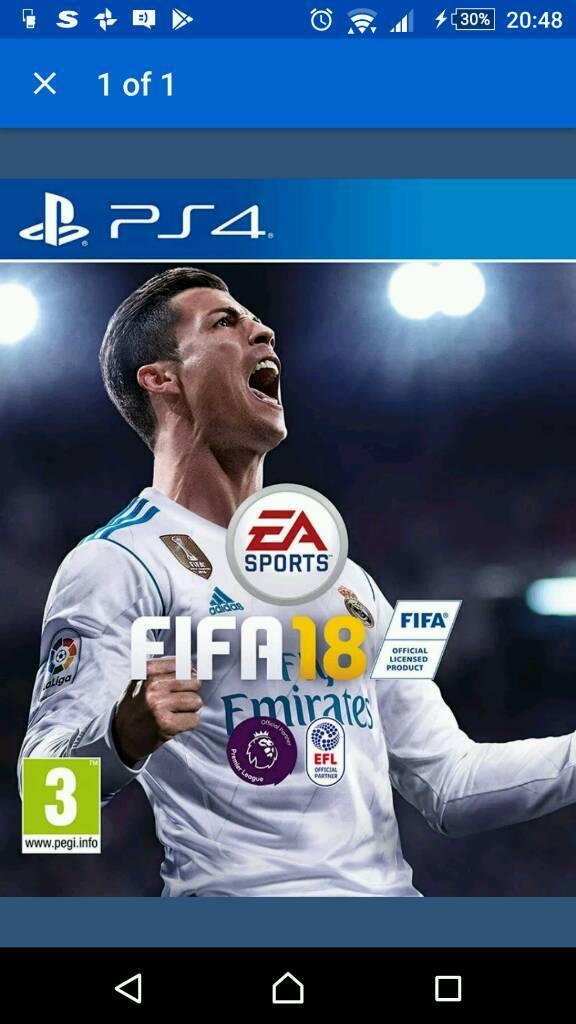PlayStation fifa 18 brand new