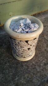 12 Lombok ornate ceramic tealight holders/plant pot