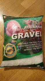 Brand new 5kg bag white aquarium decorative gravel