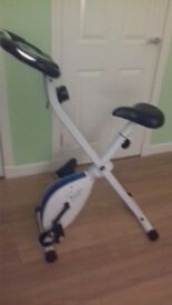 exercise bike. ok condition but the black covering on one the handle bars has come off.