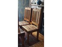 heavy wooden chairs x 6