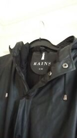 RAINS S/M JACKET rain black matt