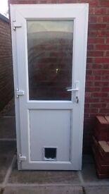 Free uPVC External Door with Catflap