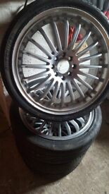 Alloy wheels with good tyres multifit