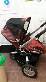 Quinny buzz pram seat unit with thick cosy toes