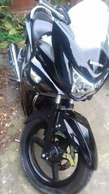 black suzuki inazuma 250cc