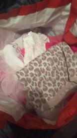 Newborn, tiny baby, 0-3 and 3-6 girl clothes
