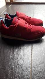 Lacoste kids size 13 trainers