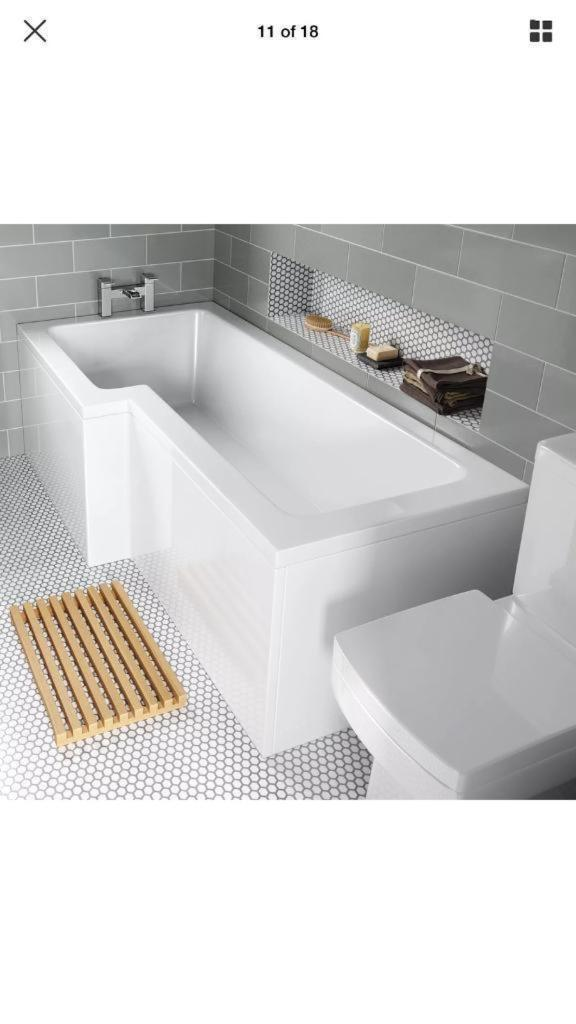 L shape left hand bath