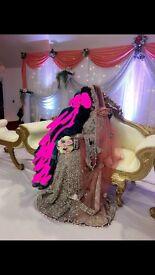 !!BARGAIN!! Beautiful civil reception/ Walima Long gown, Lengha!! Élan Designer piece