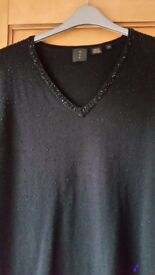 Black Evening Lightweight Sweater