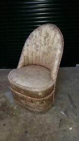 Small pretty barrel chair...