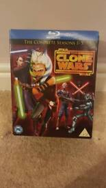 Star Wars The Clone Wars Season 1-5 Box set Blu-Ray Collection Only