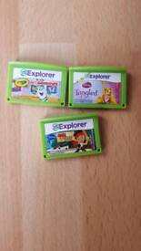 Leap frog explorer games ×3