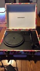 Crosley floral vinyl record player limited edition