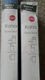 2 Brand New Blue Roller Blinds