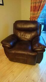 Genuine leather 3-1-1 for sale. Beautiful rich chocolate leather with cream stitching