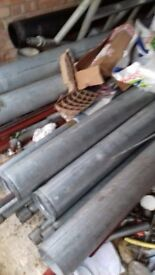 5 STOCK LENGTHS 150mm GALVE PIPE GROOVED