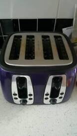 4 slice purple toaster