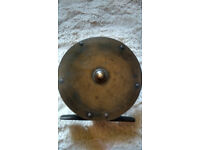 Large Vintage Brass Salmon Fishing Reel 4.5""