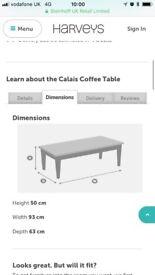 Harvey's Calais coffee table