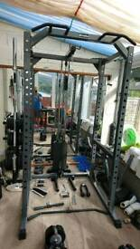 Bodymax Heavy duty power cage with 95kg lat/low pulley stack