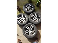 VW Golf mk6 alloys and tyres for sale