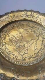 Oriental / Persian brass pin dish / ash tray