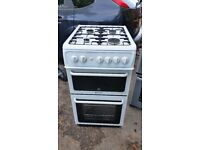 HOTPOINT HW170GIW DOUBLE OVEN GAS COOKER IN GOOD CONDITION AND WORKING ORDER