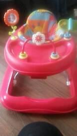 Red baby walker