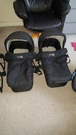 Mountain buggy duet twin carrycots