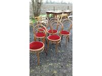 Reclaimed chairs and tables for cafes and resturants