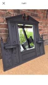 DEL £25 most uk Victorian cast iron fireplace mirror